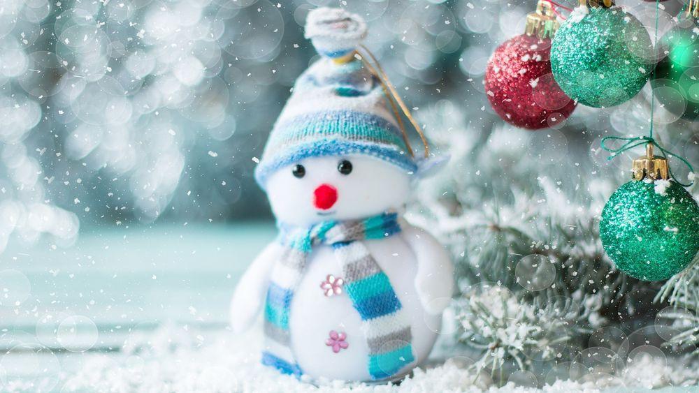 новогодние обои на рабочий стол широкоформатные 2019 снеговик